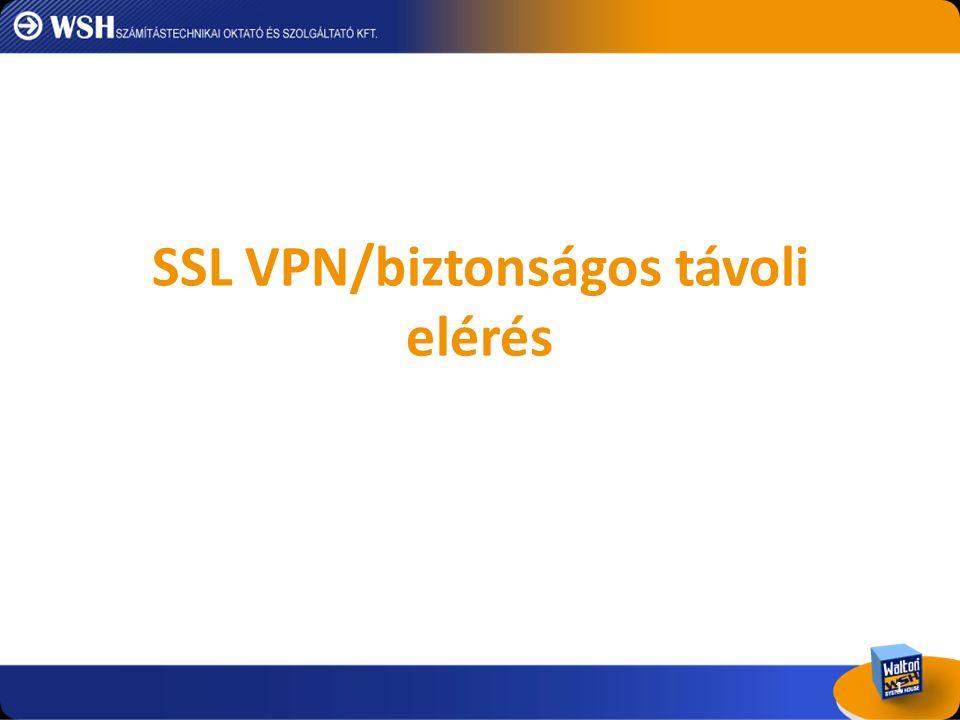 SSL VPN/biztonságos távoli elérés 1