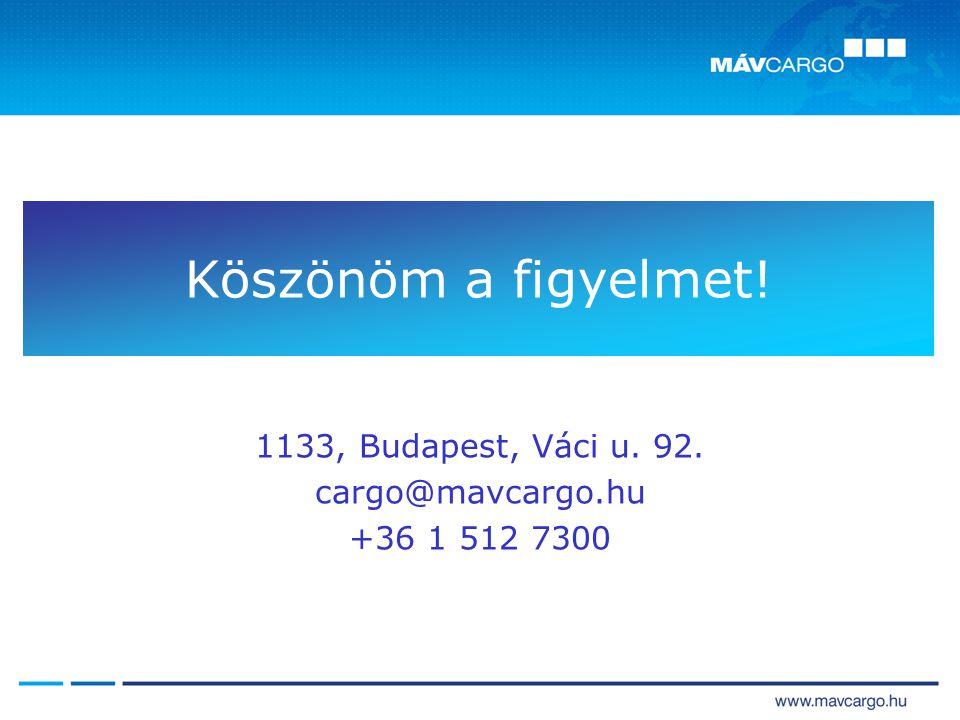 Köszönöm a figyelmet! 1133, Budapest, Váci u. 92. cargo@mavcargo.hu +36 1 512 7300