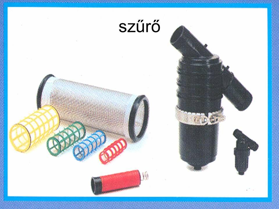 Egyéb részek •Víznyomásmérő •Vízhőmérő •Vízmennyiség-mérő •Műtrágyaoldó •Automatizáló berendezés