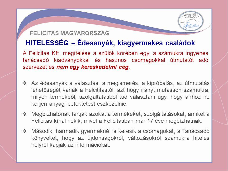KAPCSOLAT – Édesanyák és kisgyermekes családok A Felicitas Kft.