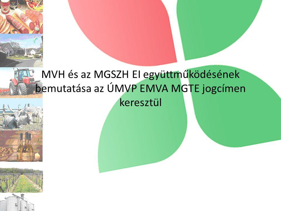 MVH és az MGSZH EI együttműködésének bemutatása az ÚMVP EMVA MGTE jogcímen keresztül