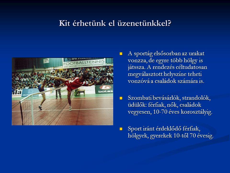 Hogyan érjük el a közönséget. A Nemzetközi Bajnokságokon (VB-EB), Balatoni Körversenyen.