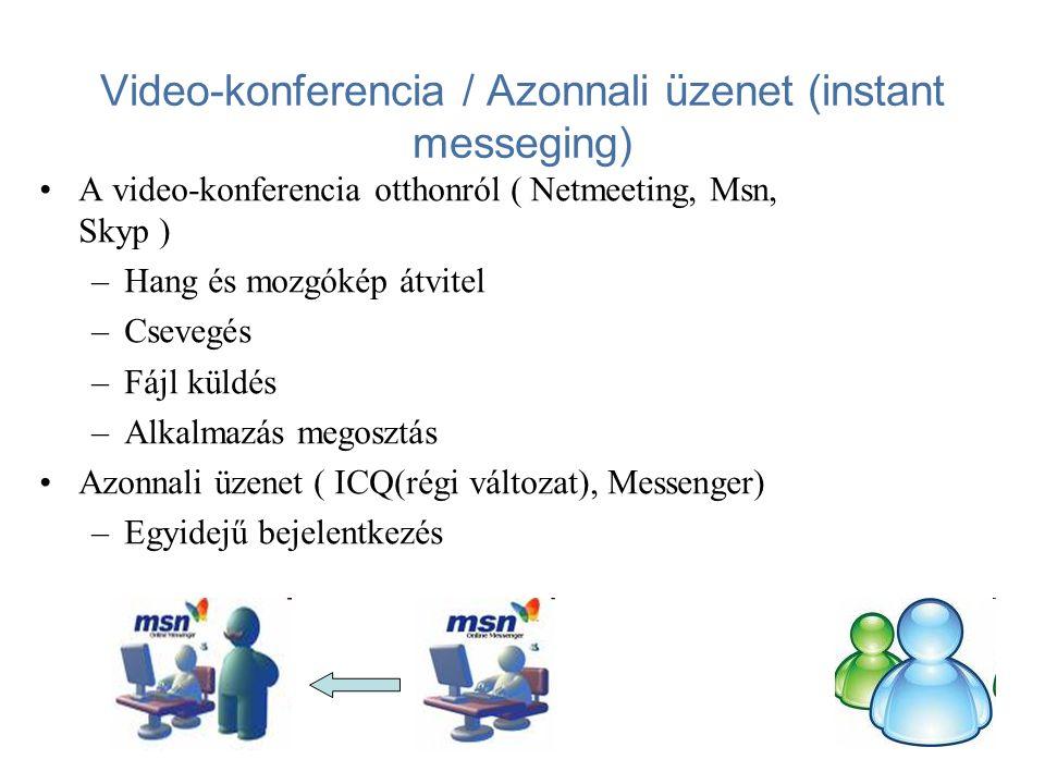 Kommunikáció – Közösségi oldalak •www.iwiw.huwww.iwiw.hu •www.myvip.huwww.myvip.hu •www.baratikor.huwww.baratikor.hu •www.facebook.huwww.facebook.hu •www.hi5.huwww.hi5.hu