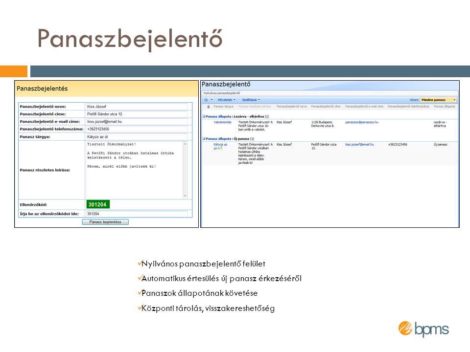 A rendszer további előnyei  A felhasználók gyorsan megszokják kezelését  Integrálódik a megszokott Office-alkalmazásokkal  A dokumentumkezelés Windows Intézőből is végezhető  Nem igényel hosszas oktatás  Új oldalak, adattároló listák létrehozhatók informatikai háttérismeret nélkül  Egyszerű üzemeltetni  Központosított tárolást, így egyszerűsített mentést tesz lehetővé  Javítja a belső kommunikációt  Mindenki által elérhető hirdetmények  Automatikus e-mail értesítések  Változások követése akár RSS-hírcsatornákon keresztül  Csökkenti a belső papírmunkát  A dokumentumok és bejegyzések Google-szerűen kereshetők  Biztonságos, jogosultságfüggő hozzáférést biztosít minden bejegyzéshez
