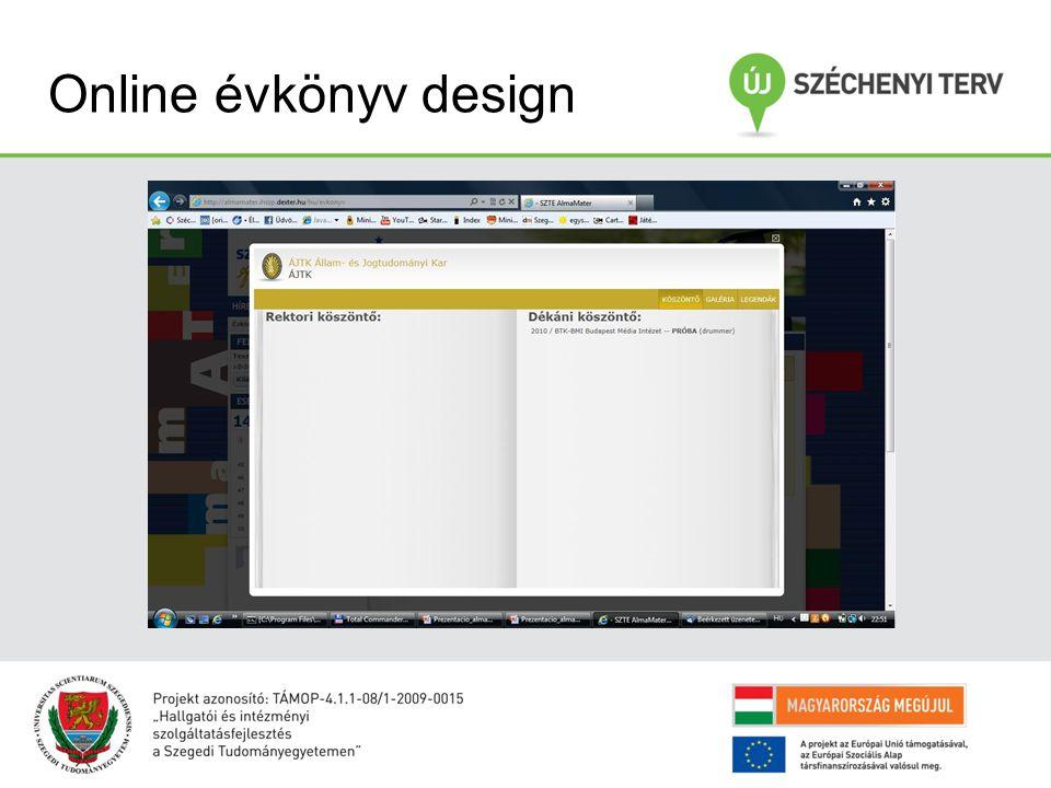 Online évkönyv design
