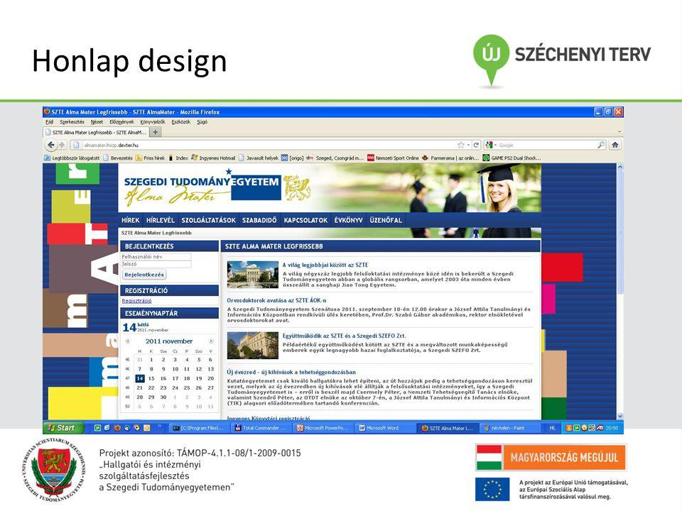 Honlap design