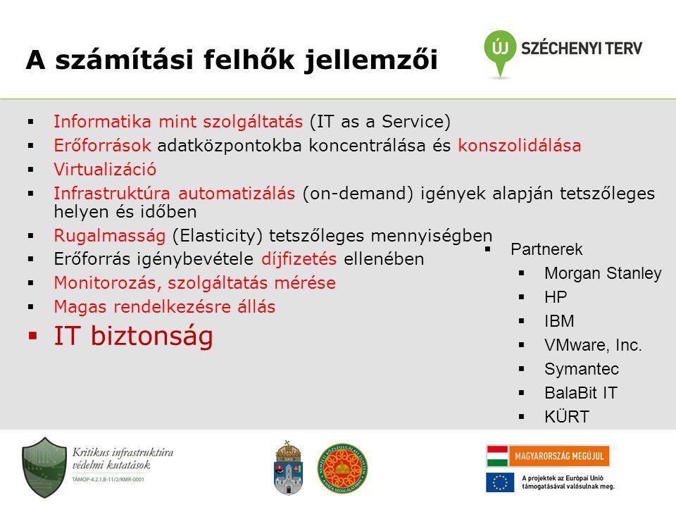 A számítási felhők jellemzői  Informatika mint szolgáltatás (IT as a Service)  Erőforrások adatközpontokba koncentrálása és konszolidálása  Virtual