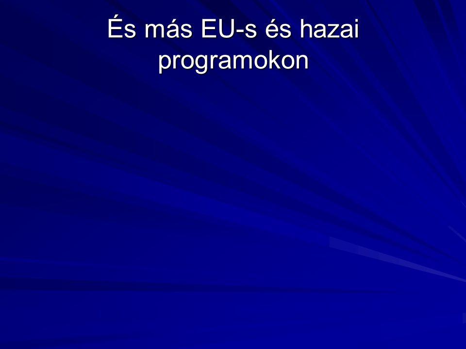 És más EU-s és hazai programokon