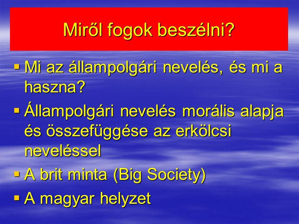 Miről fogok beszélni?  Mi az állampolgári nevelés, és mi a haszna?  Állampolgári nevelés morális alapja és összefüggése az erkölcsi neveléssel  A b
