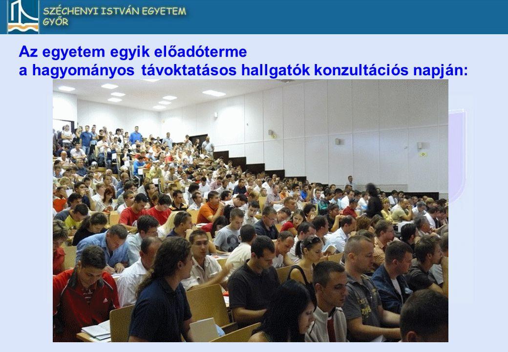 Az egyetem egyik előadóterme a hagyományos távoktatásos hallgatók konzultációs napján: