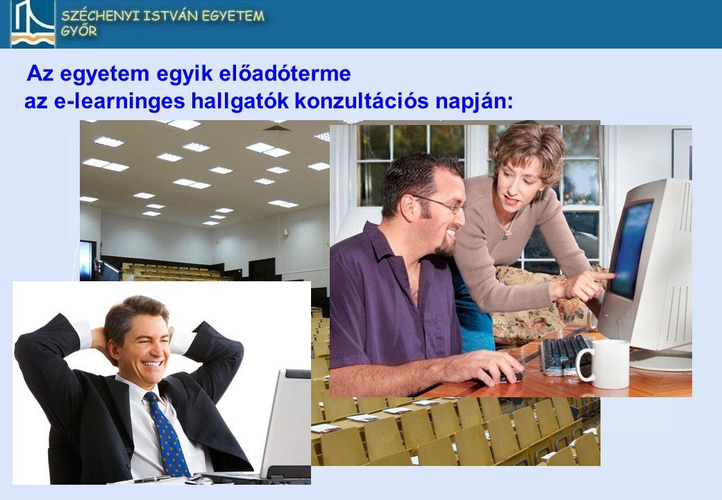 Az egyetem egyik előadóterme az e-learninges hallgatók konzultációs napján: