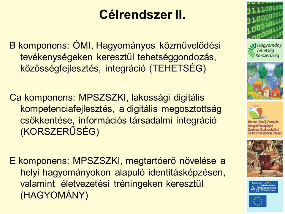 Célrendszer II.