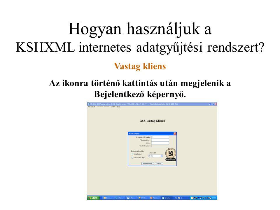 Hogyan használjuk a KSHXML internetes adatgyűjtési rendszert.