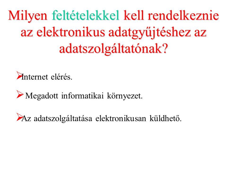 Milyen feltételekkel kell rendelkeznie az elektronikus adatgyűjtéshez az adatszolgáltatónak.