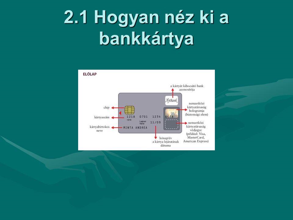 2.1 Hogyan néz ki a bankkártya
