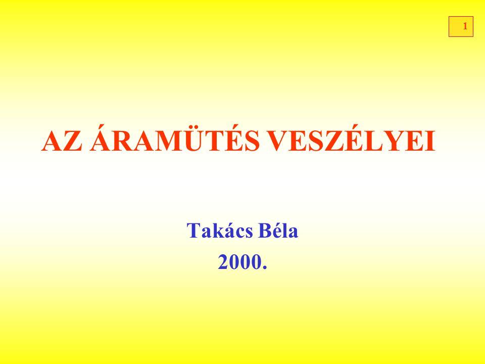 1 AZ ÁRAMÜTÉS VESZÉLYEI Takács Béla 2000.