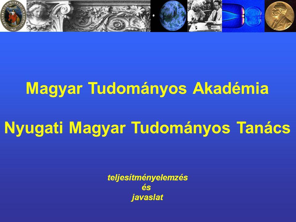 Magyar Tudományos Akadémia Nyugati Magyar Tudományos Tanács teljesítményelemzés és javaslat