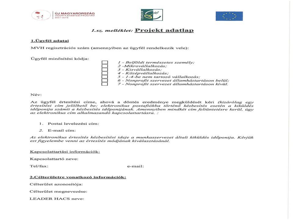 Specifikus feltételek: 76/2011.