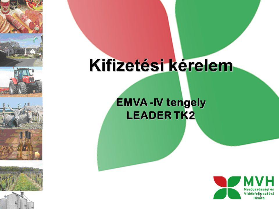 Kifizetési kérelem EMVA - IV tengely LEADER TK2 1