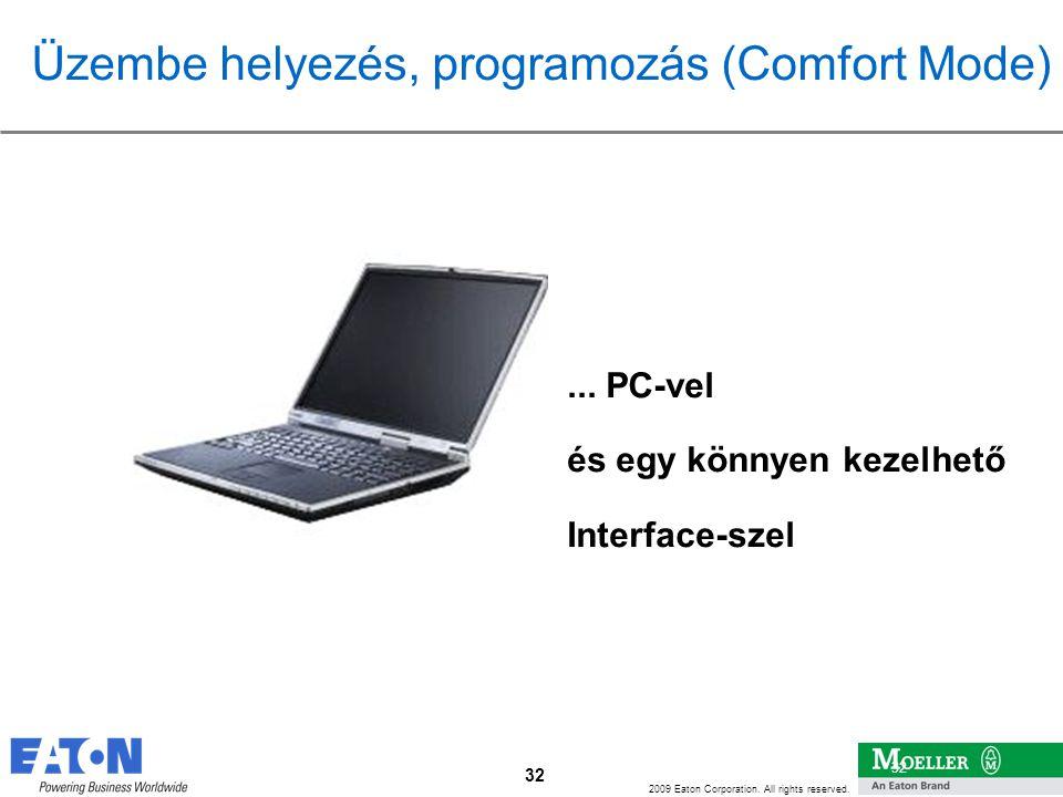 32 2009 Eaton Corporation. All rights reserved. 32... PC-vel és egy könnyen kezelhető Interface-szel Üzembe helyezés, programozás (Comfort Mode)