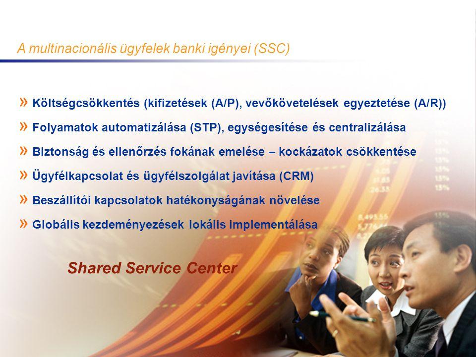 2003. November 20. GTS Hungary 3 A multinacionális ügyfelek banki igényei (SSC) » Költségcsökkentés (kifizetések (A/P), vevőkövetelések egyeztetése (A