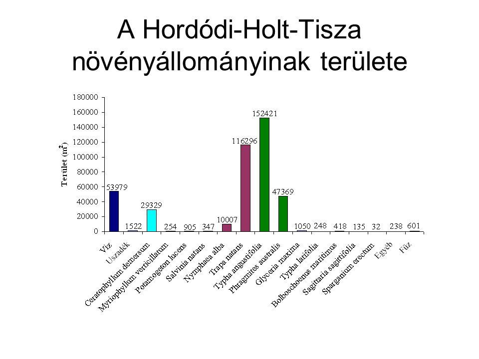A Hordódi-Holt-Tisza növényállományinak területe
