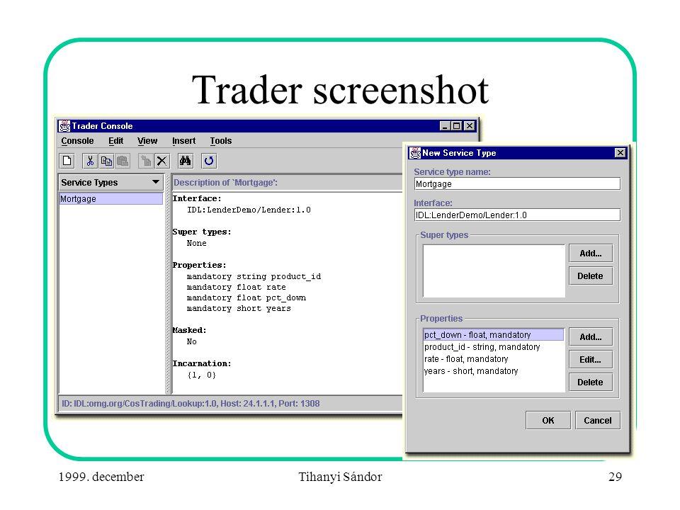 1999. decemberTihanyi Sándor29 Trader screenshot