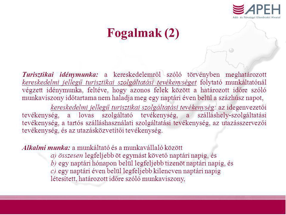 46 Átmeneti rendelkezések (1) •A háztartási alkalmazott foglalkoztatásával kapcsolatos bejelentési szabályokat 2010.