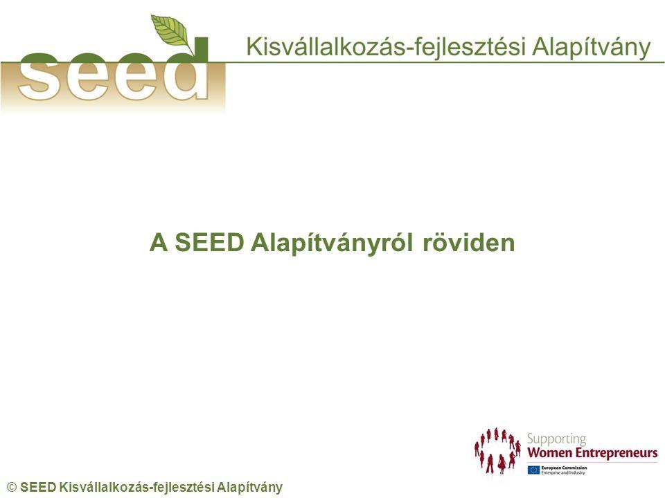 © SEED Kisvállalkozás-fejlesztési Alapítvány A SEED Alapítványról röviden