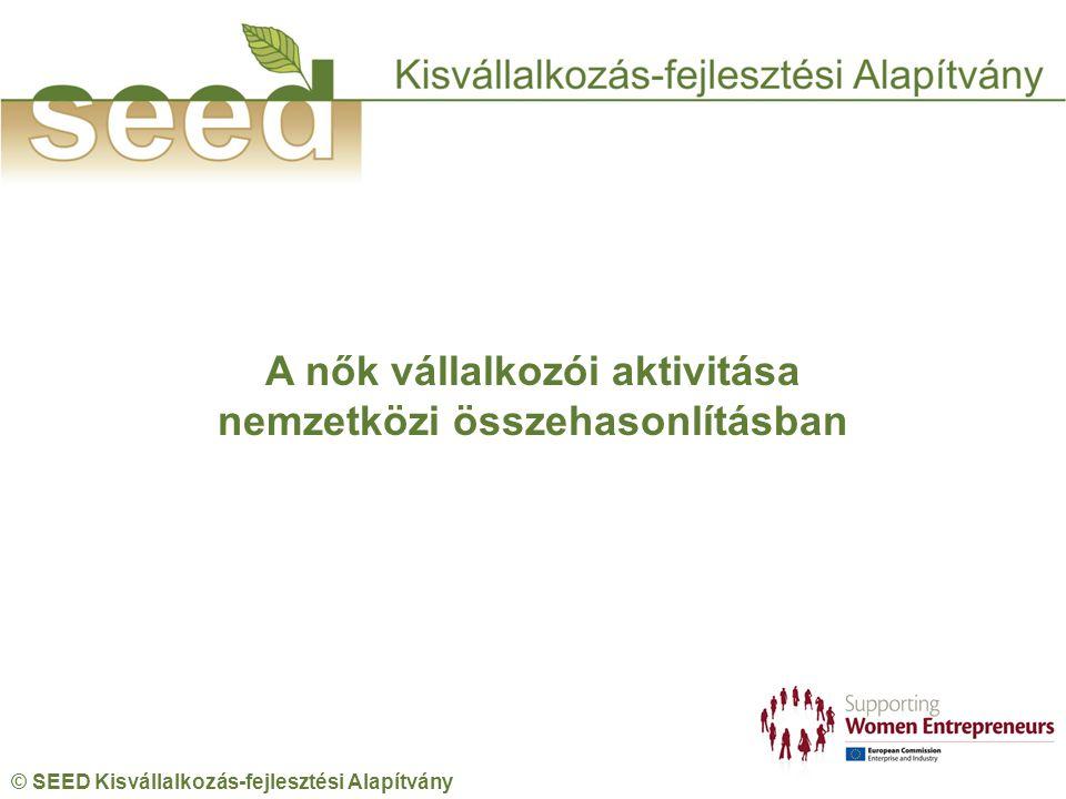 © SEED Kisvállalkozás-fejlesztési Alapítvány A nők vállalkozói aktivitása nemzetközi összehasonlításban