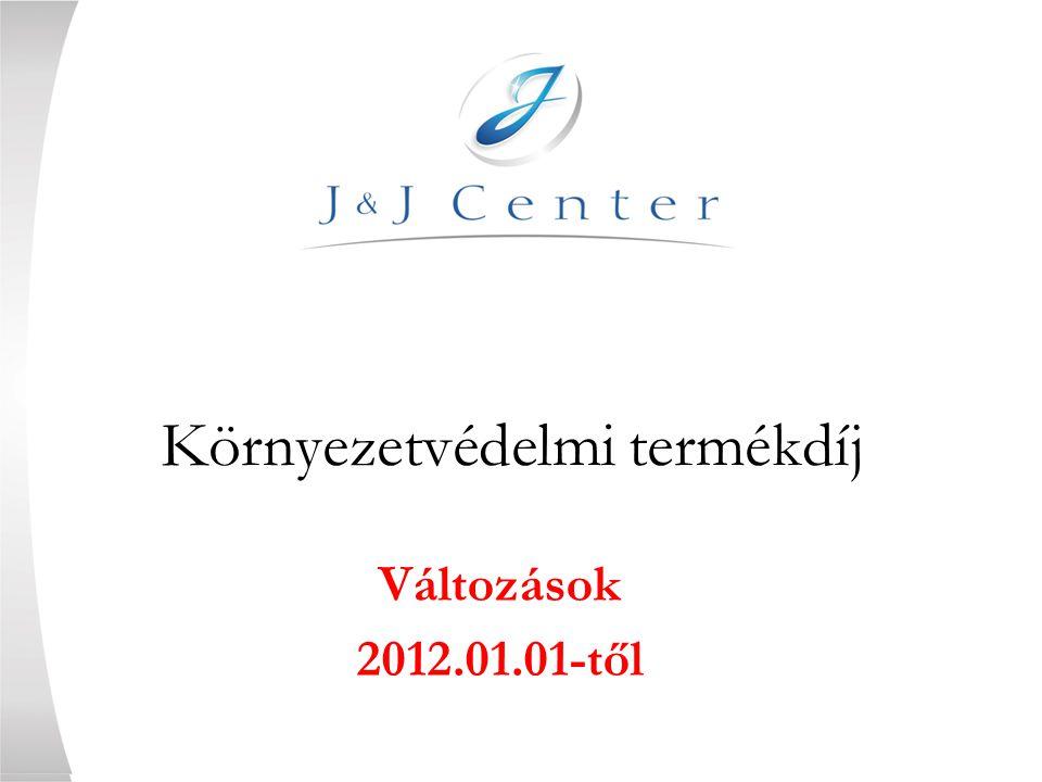 Környezetvédelmi termékdíj Változások 2012.01.01-től