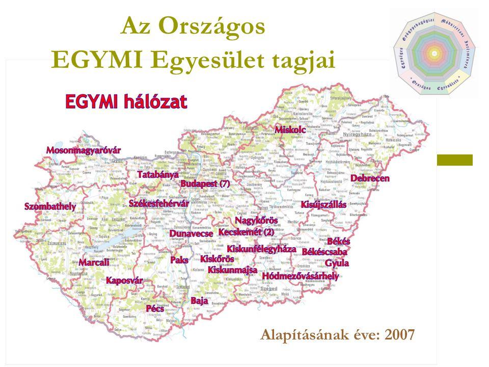 Az Országos EGYMI Egyesület tagjai Alapításának éve: 2007