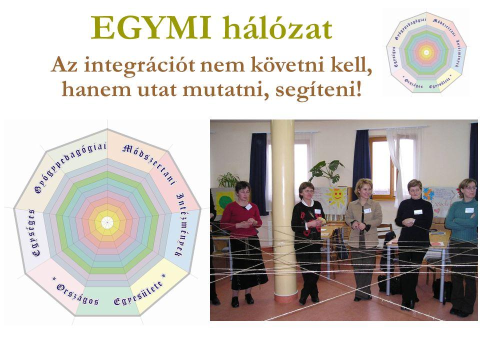 EGYMI hálózat Az integrációt nem követni kell, hanem utat mutatni, segíteni!