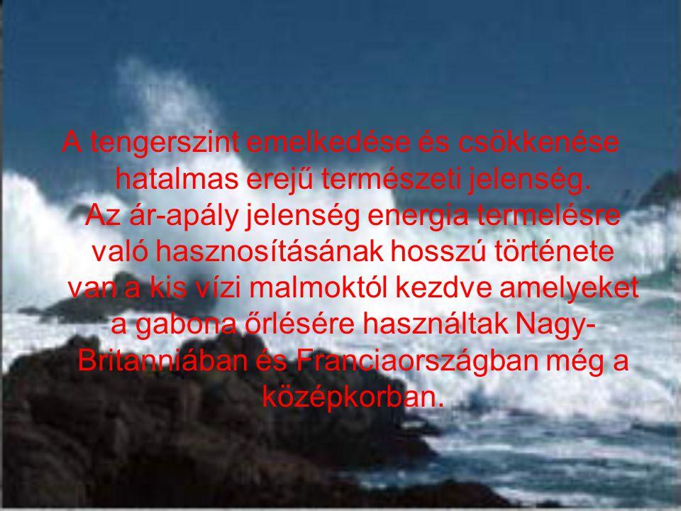 A tengerszint emelkedése és csökkenése hatalmas erejű természeti jelenség.
