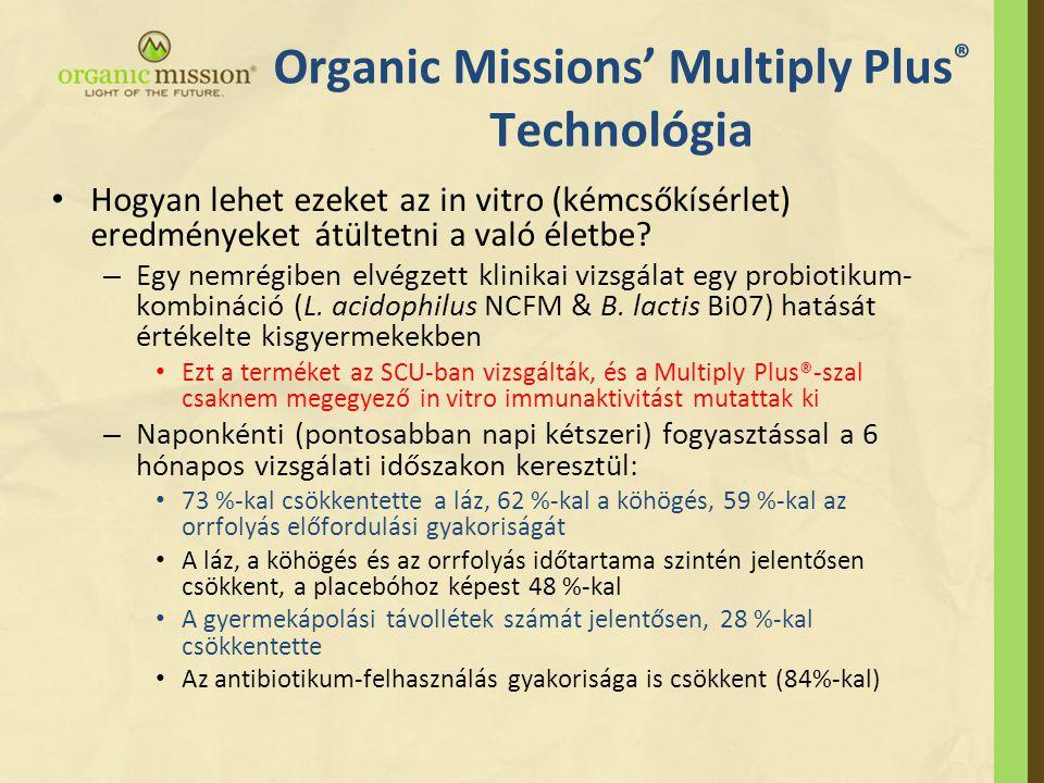 Organic Missions' Multiply Plus ® Technológia • Hogyan lehet ezeket az in vitro (kémcsőkísérlet) eredményeket átültetni a való életbe.
