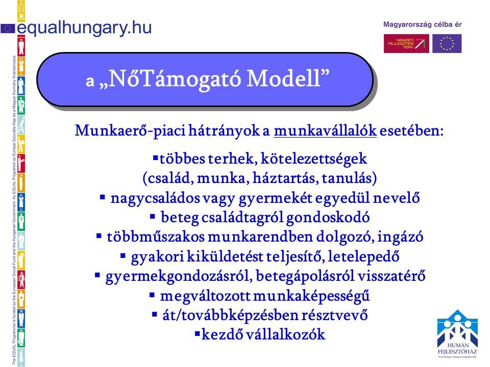 """a """"NőTámogató Modell a projekt felépítése, ütemezése 2."""