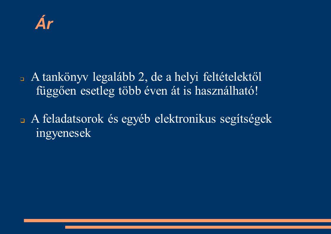 A tankönyv fejezetei ● 1.