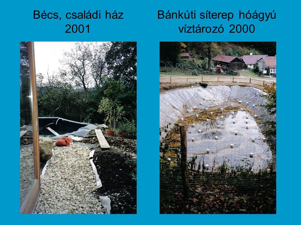 Bécs, családi ház 2001 Bánkúti síterep hóágyú víztározó 2000
