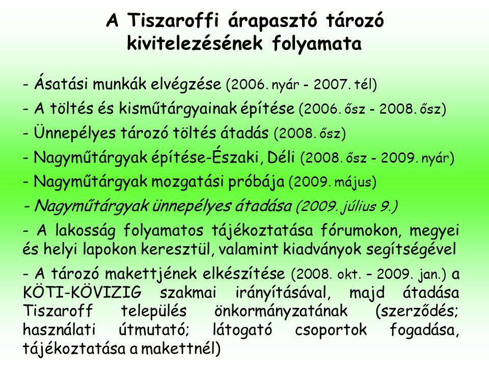 A Tiszaroffi árapasztó tározó kivitelezésének folyamata - Ásatási munkák elvégzése (2006. nyár - 2007. tél) - A töltés és kisműtárgyainak építése (200