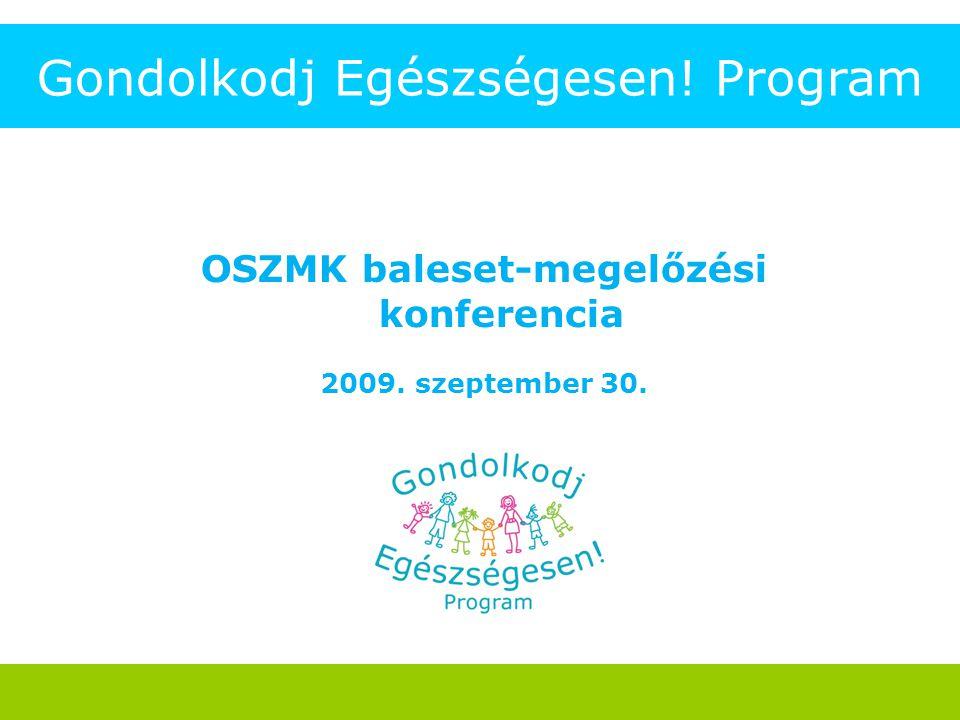 Gondolkodj Egészségesen! Program OSZMK baleset-megelőzési konferencia 2009. szeptember 30.