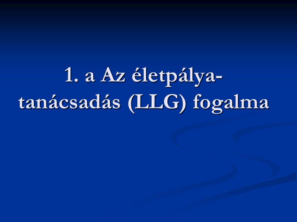 1. a Az életpálya- tanácsadás (LLG) fogalma