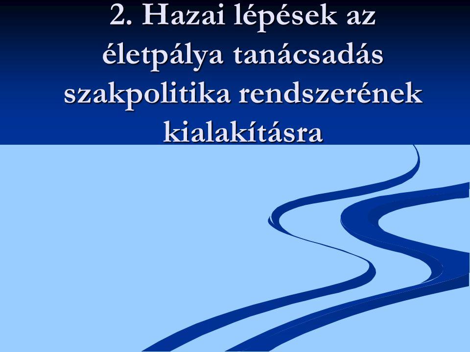2. Hazai lépések az életpálya tanácsadás szakpolitika rendszerének kialakításra