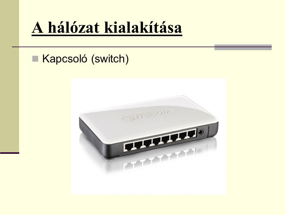 A hálózat kialakítása  Kapcsoló (switch)