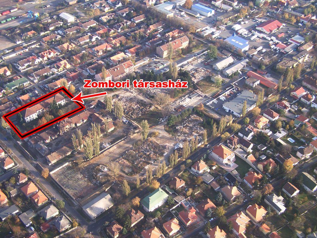 A meglévő épület ismertetése  A sík terepen lévő földszintes + egy emeletes, magastetős épület a terület északkeleti részén, oldalhatáron áll.