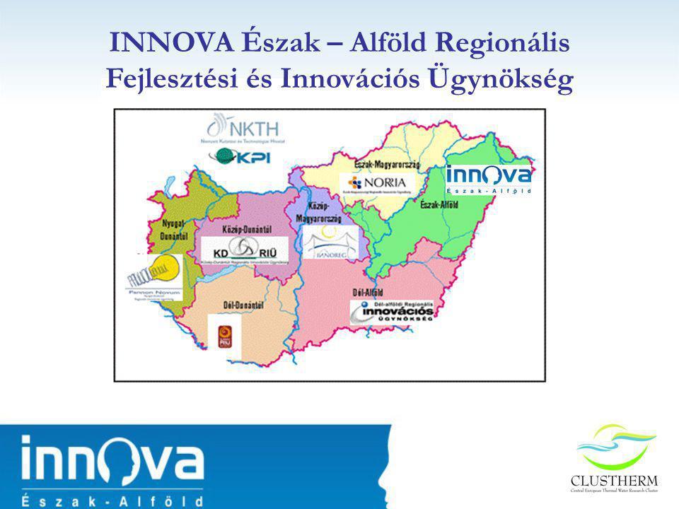 Stratégiai cél Felállítani egy új, kutatás által vezérelt termálvíz hasznosítására alapozott klasztert Közép - Európában, amely erősíti a résztvevő régiók kutatási potenciálját Időtartama: 2008.05.01 – 20010.