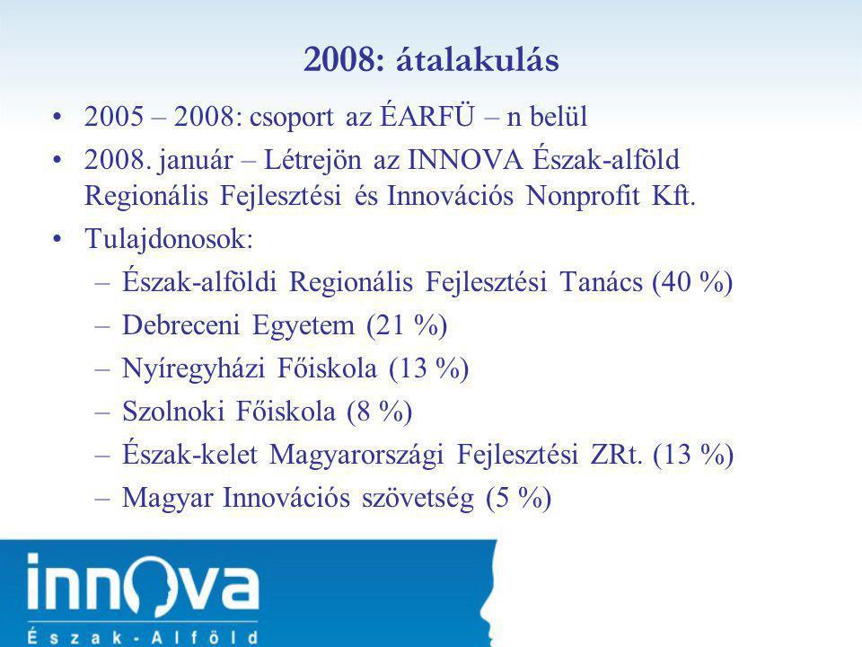 •2005 – 2008: csoport az ÉARFÜ – n belül •2008.