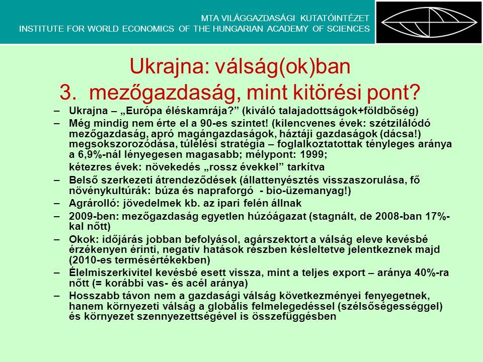 MTA VILÁGGAZDASÁGI KUTATÓINTÉZET INSTITUTE FOR WORLD ECONOMICS OF THE HUNGARIAN ACADEMY OF SCIENCES Ukrajna: válság(ok)ban 3.