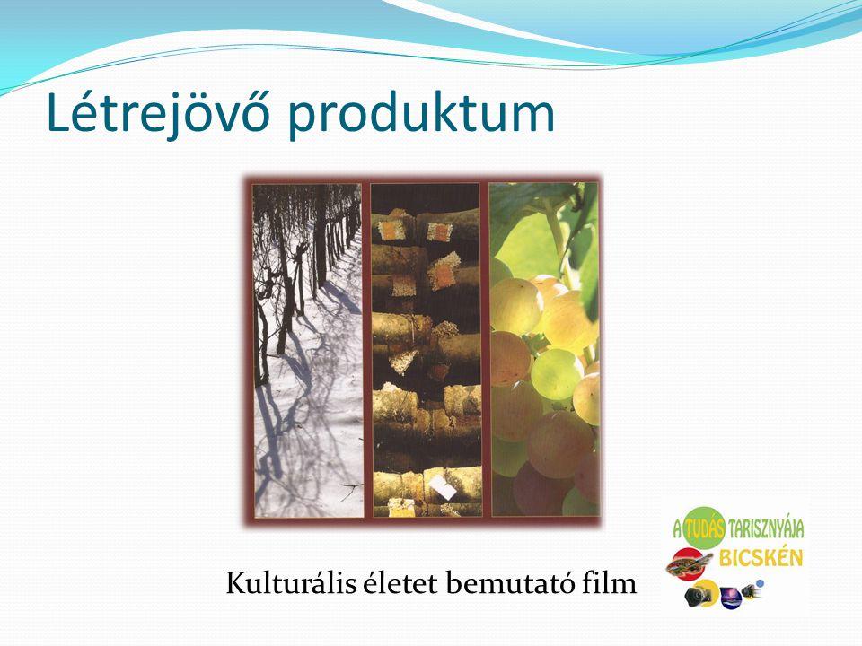 Létrejövő produktum Kulturális életet bemutató film