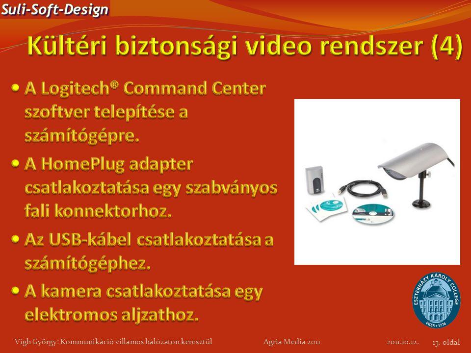 2011.10.12. Vigh György: Kommunikáció villamos hálózaton keresztül Agria Media 2011 13. oldal
