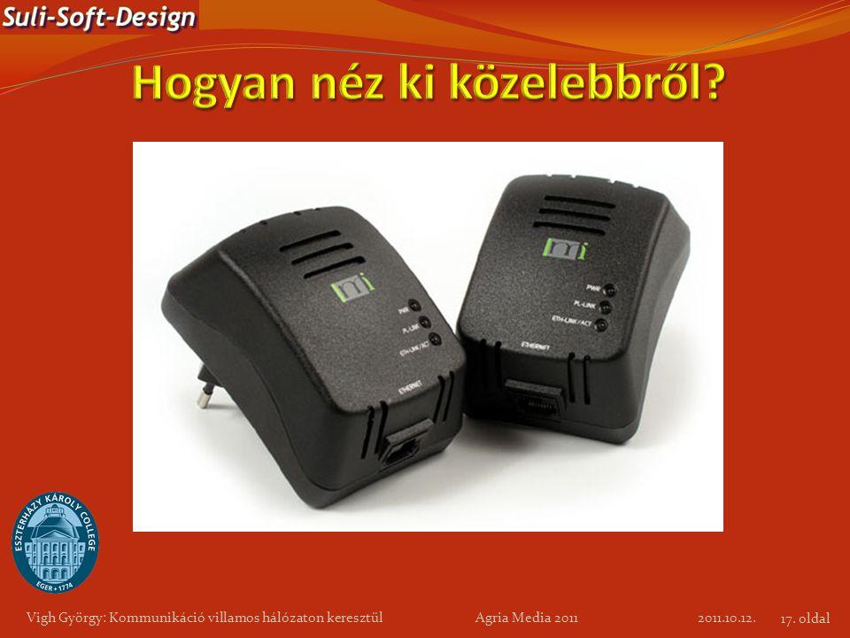 Vigh György: Kommunikáció villamos hálózaton keresztül Agria Media 2011 2011.10.12. 17. oldal